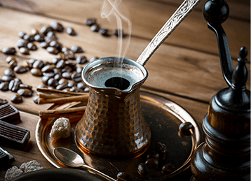 Torra clara do café